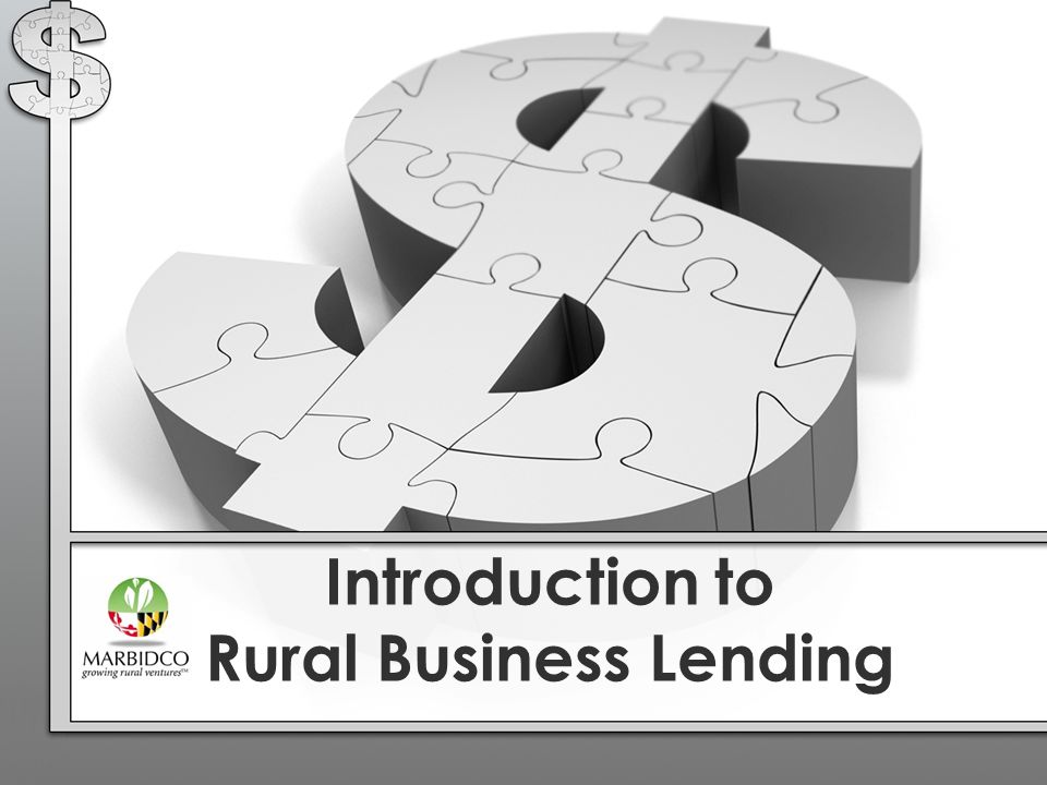 Introduction to Rural Business Lending