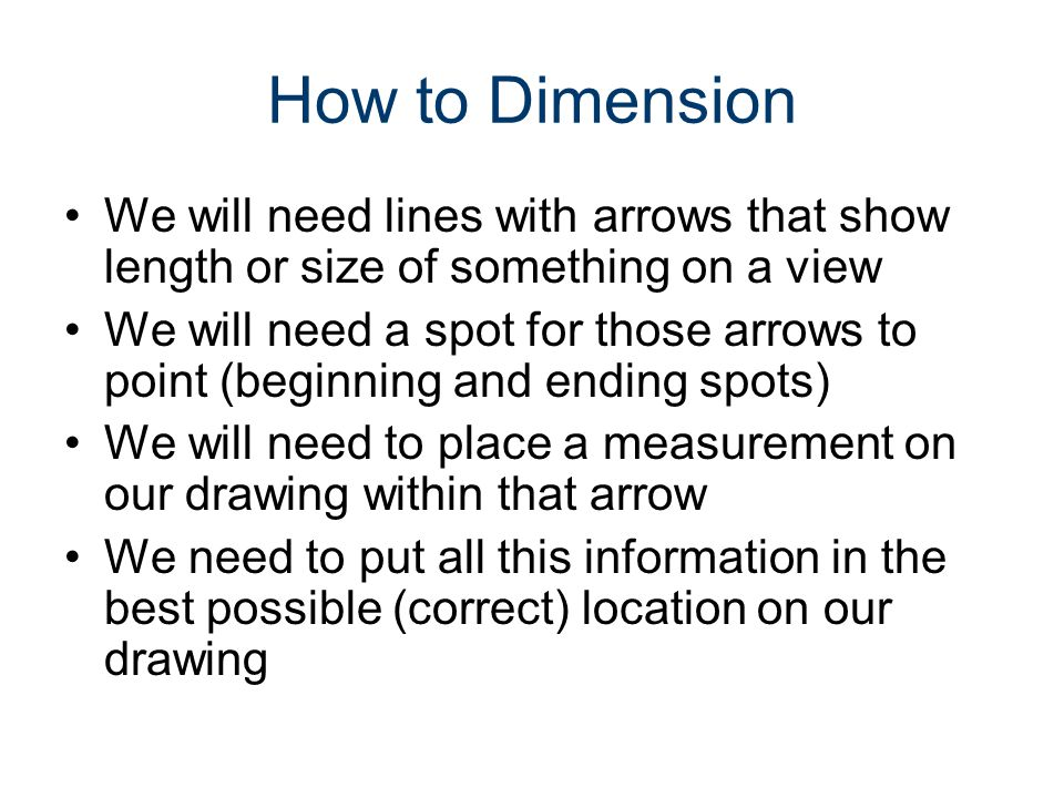 Next: Dimensioning Guidelines (Rules) Incorrect dimensions will be shown in RED Correct dimensions will be shown in GREEN