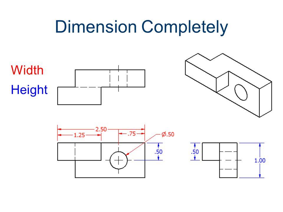 5) Put dimensions between adjacent views.