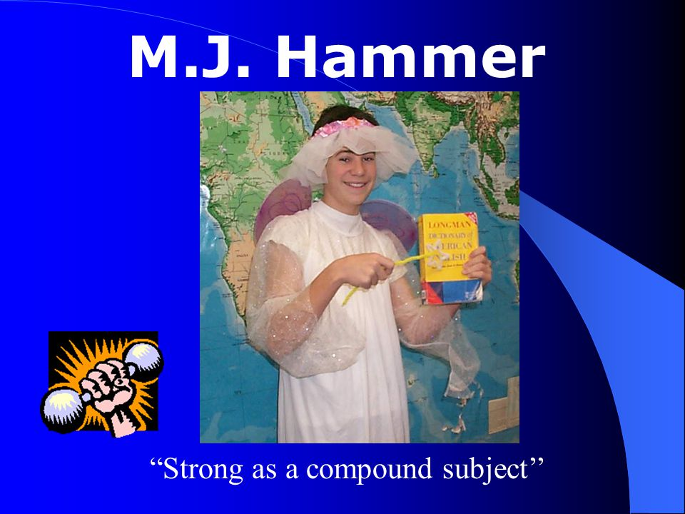 """M.J. Hammer """"Strong as a compound subject''"""