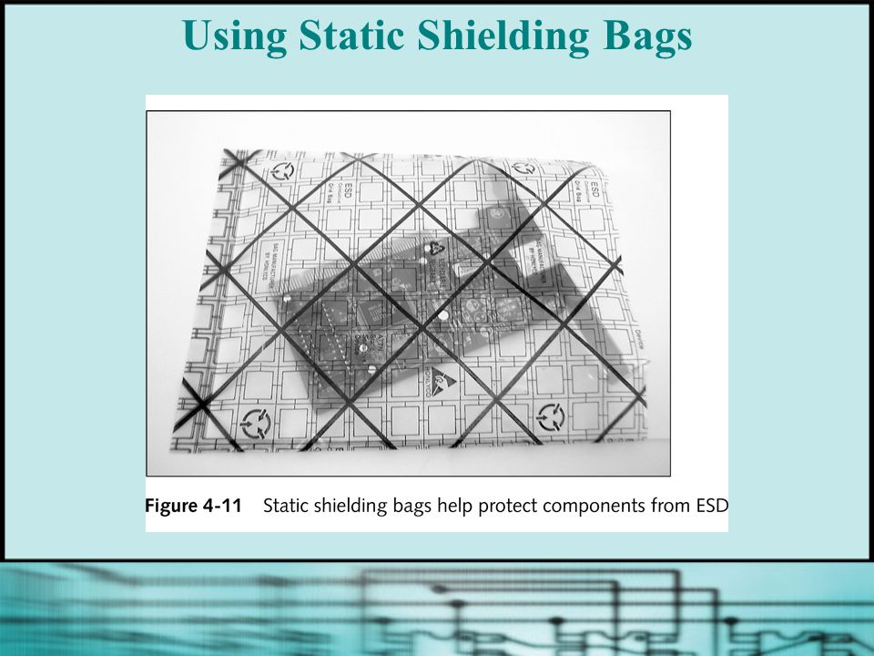 Using Static Shielding Bags
