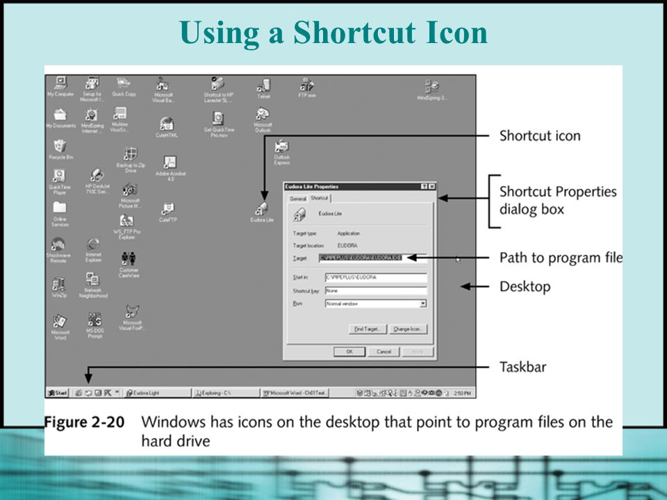 Using a Shortcut Icon
