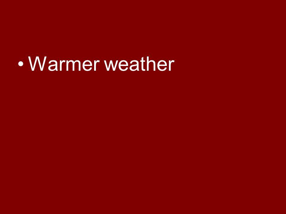 Warmer weather