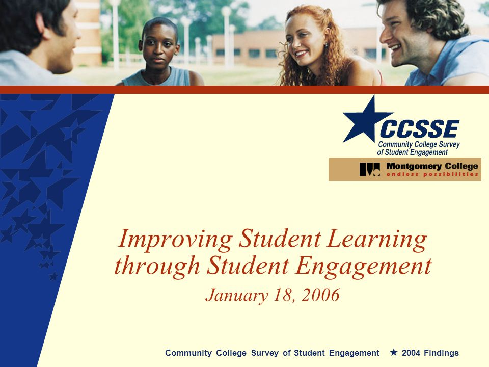 Improving Student Learning through Student Engagement January 18, 2006 Community College Survey of Student Engagement 2004 Findings