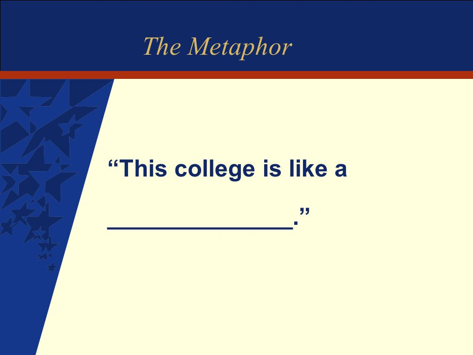 The Metaphor This college is like a ______________.
