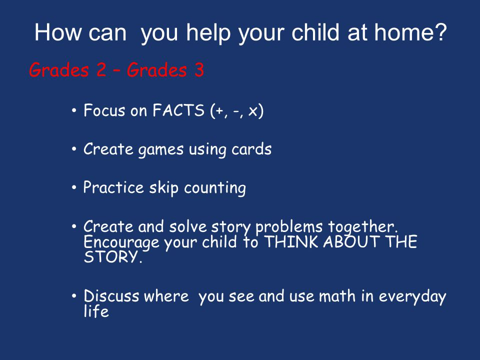 How can you help your child at home.