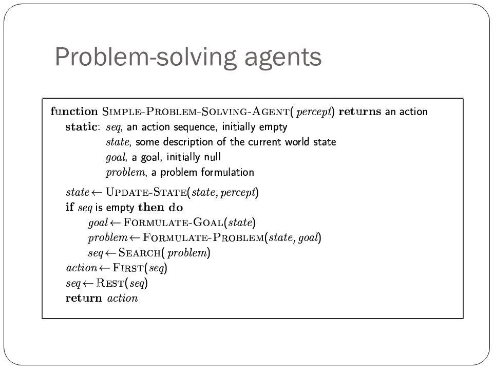 Problem-solving agents
