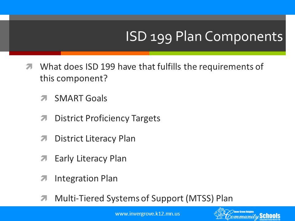 www.invergrove.k12.mn.us Plan Components  II.