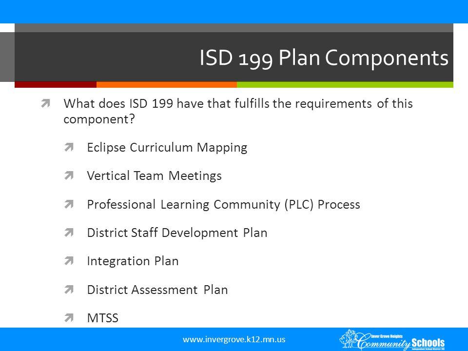 www.invergrove.k12.mn.us Plan Components  III.