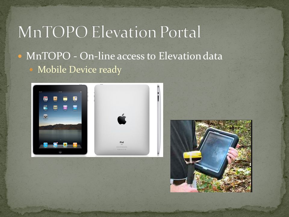 MnTOPO - On-line access to Elevation data Mobile Device ready