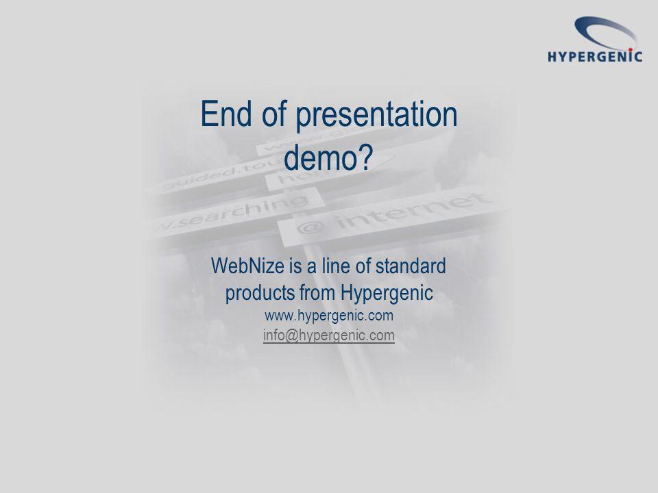 End of presentation demo.