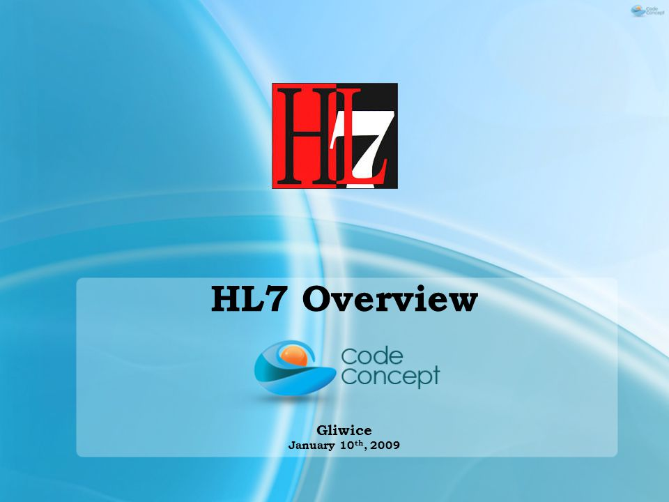 Message structure Data Exchange No data exchange, messaging and communication technologies are determined by HL7.