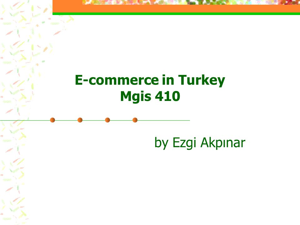 E-commerce in Turkey Mgis 410 by Ezgi Akpınar