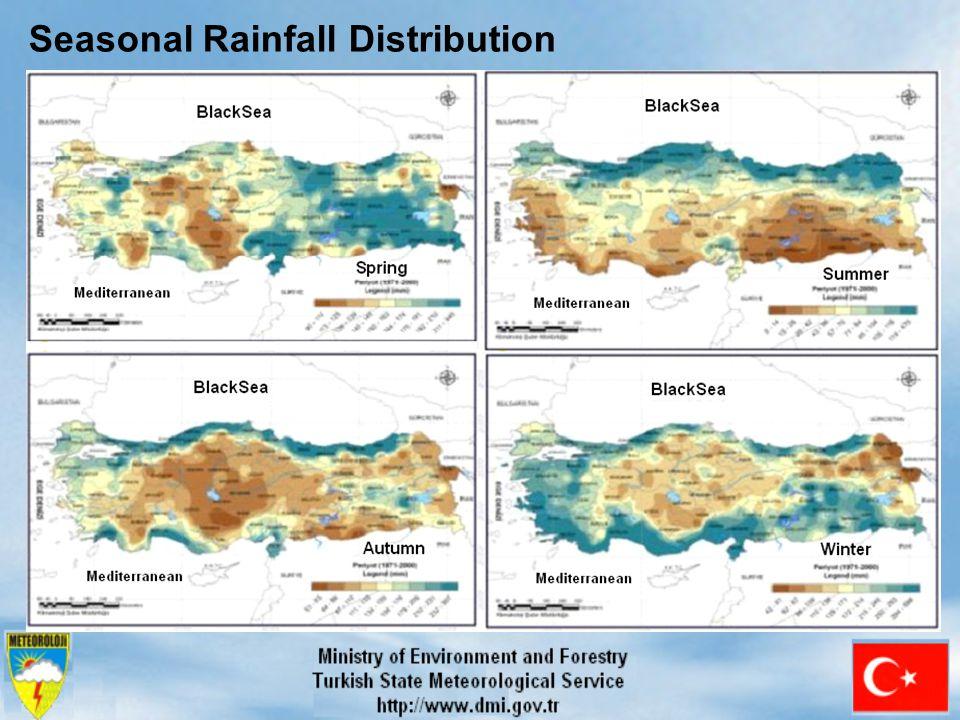 Seasonal Rainfall Distribution