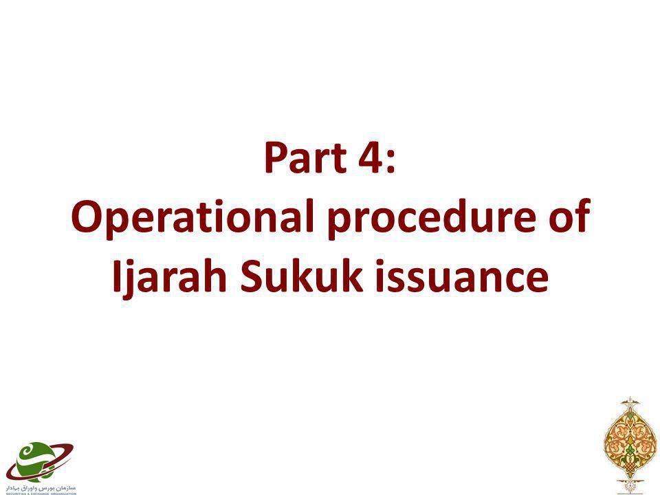 Part 4: Operational procedure of Ijarah Sukuk issuance