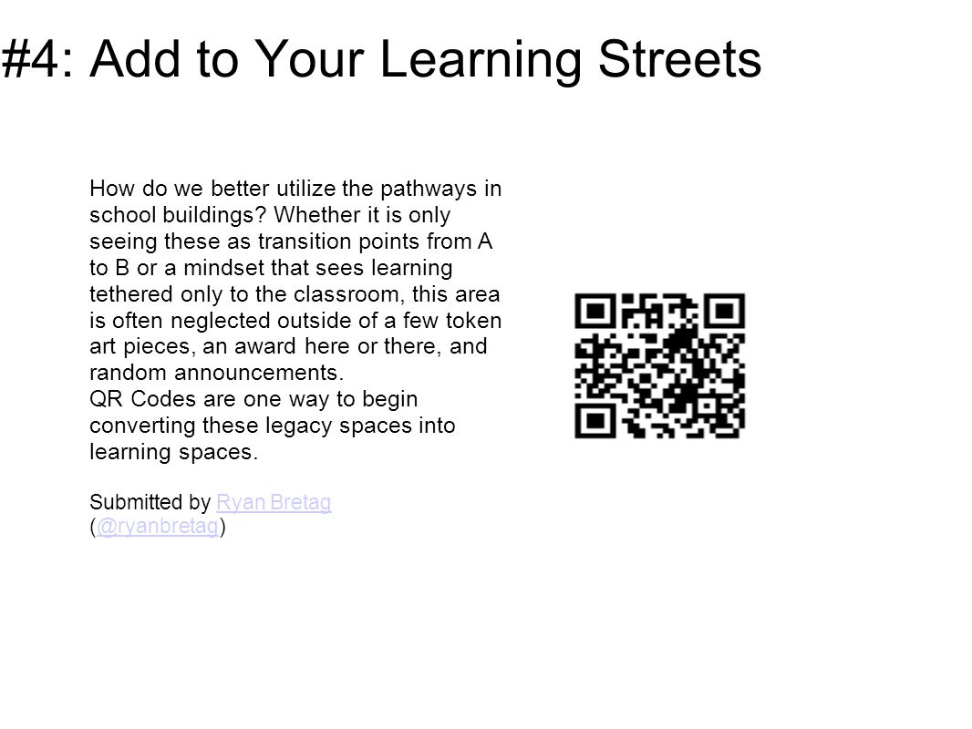#17 - Odds and ends Add QR codes that lead to book trailers to the backs of library books...
