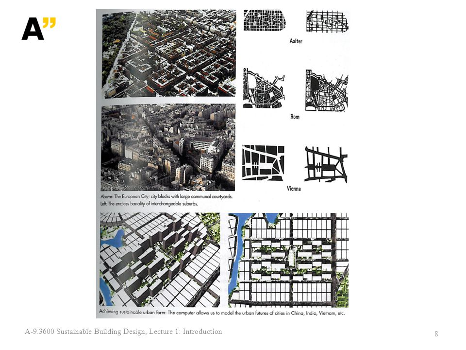 19 A-9.3600 Sustainable Building Design, Lecture 1: Introduction