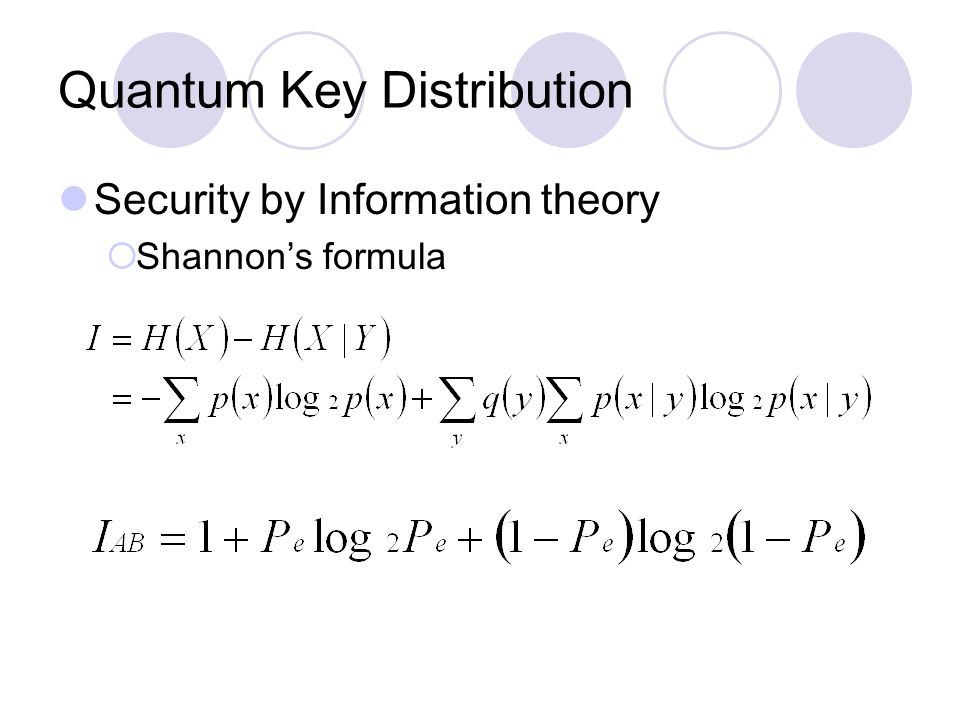 Quantum Key Distribution Security by Information theory  Shannon's formula
