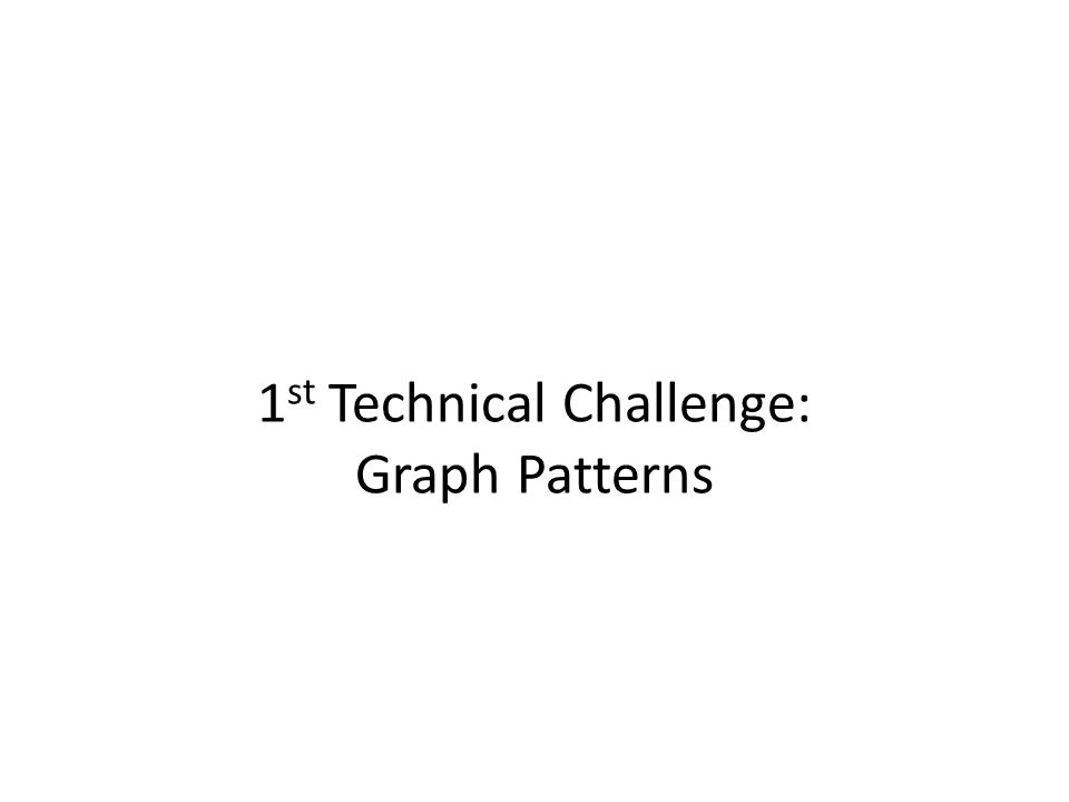 1 st Technical Challenge: Graph Patterns