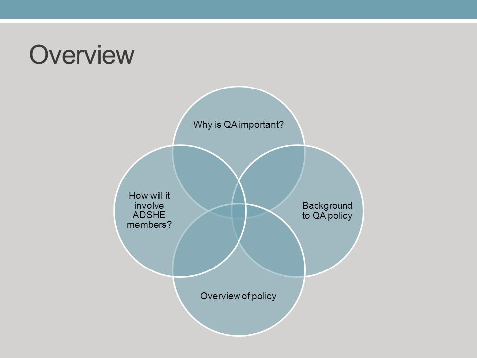 Overview Why is QA important.