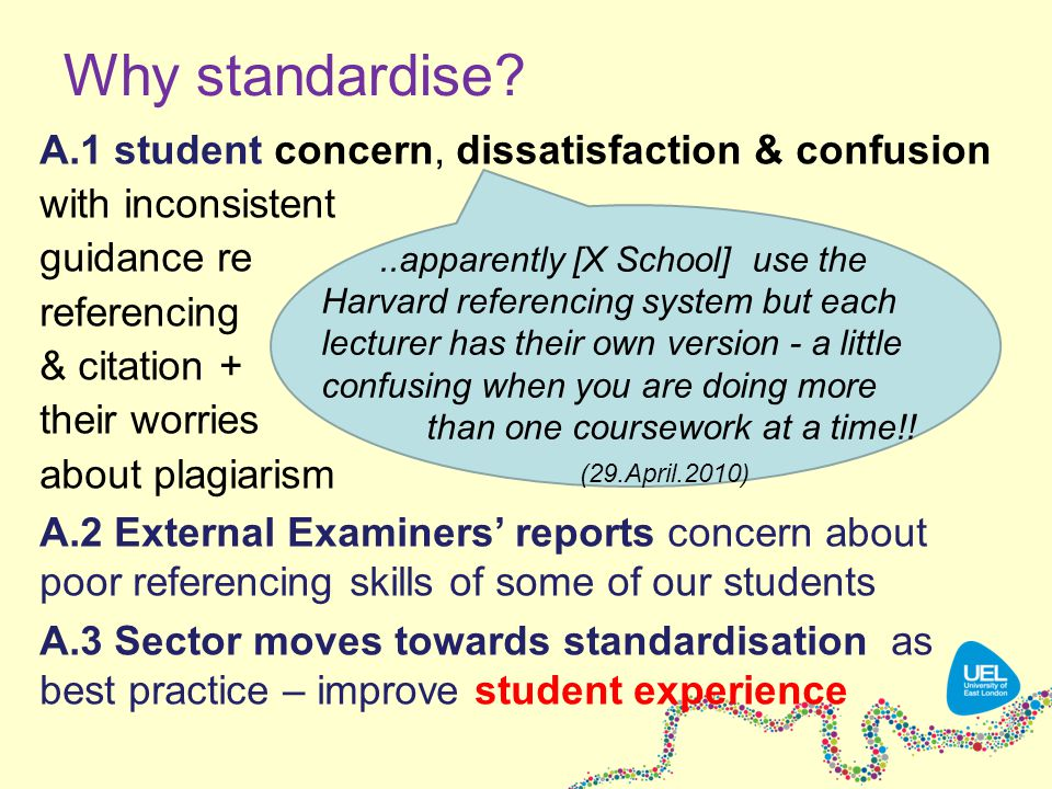 Why standardise.