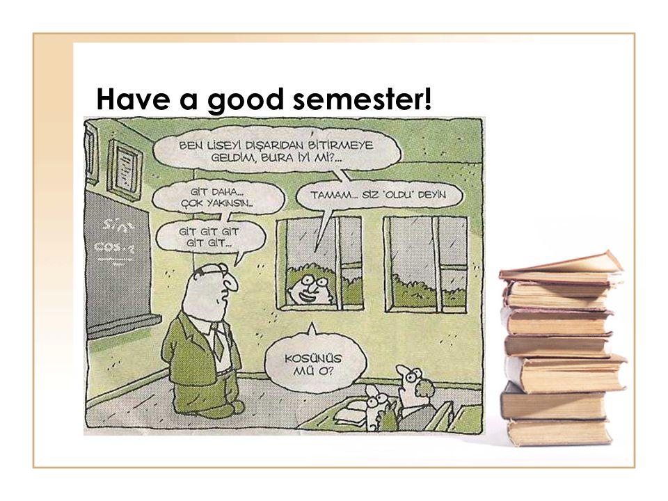 Have a good semester!