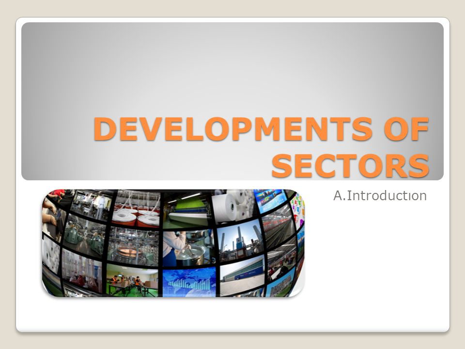 DEVELOPMENTS OF SECTORS A.Introductıon