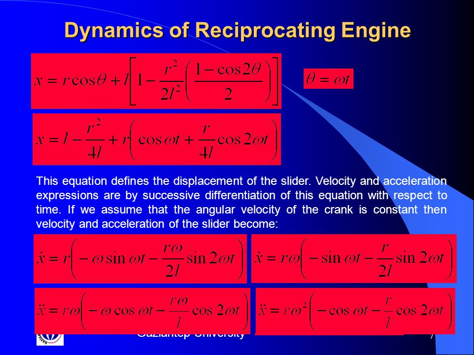Gaziantep University 18 Inertia Forces'' Position vector defining point B;