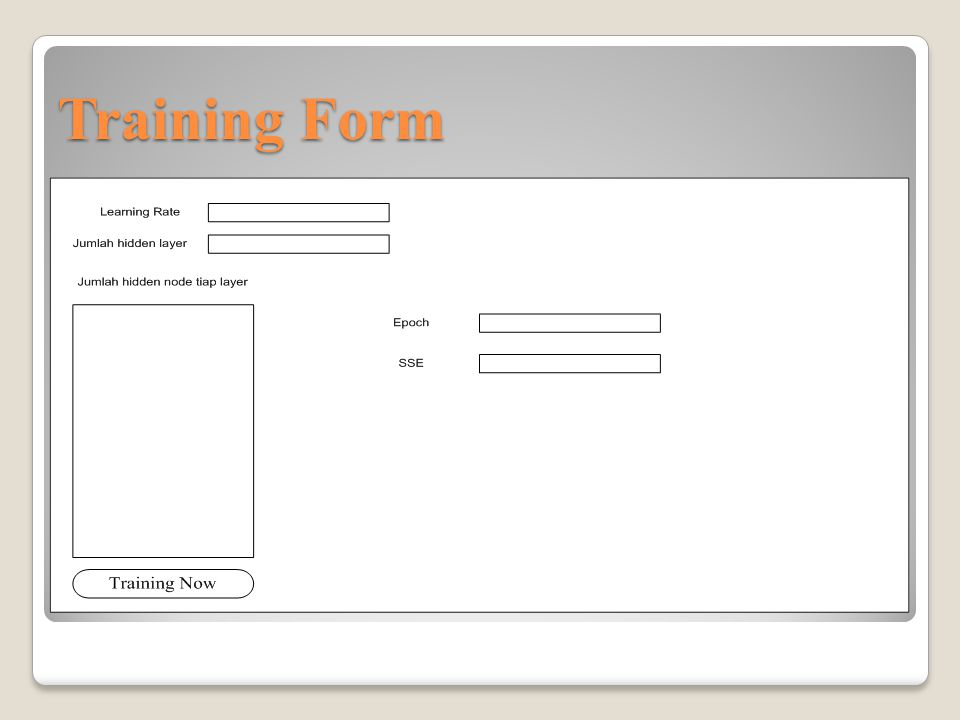 Training Form