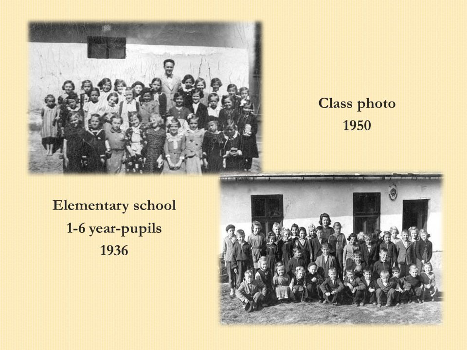 Elementary school 1-6 year-pupils 1936 Class photo 1950