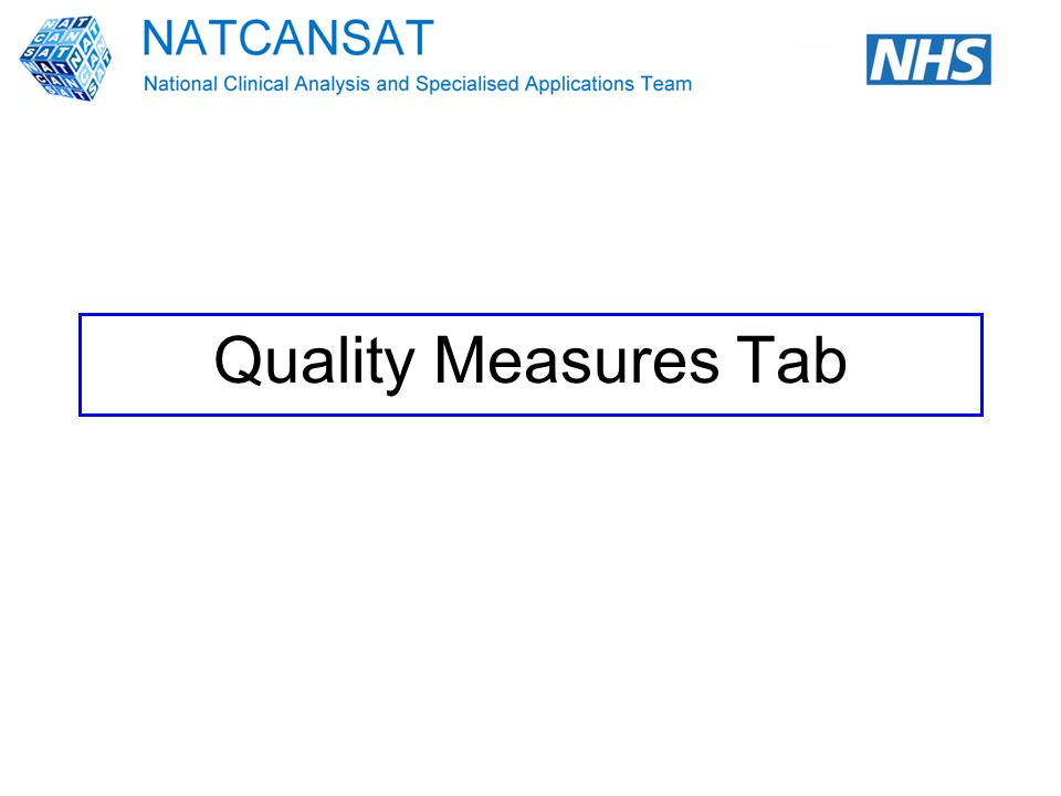 Quality Measures Tab