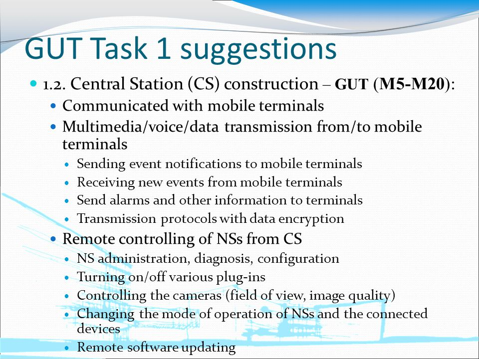 GUT Task 1 suggestions 1.2.