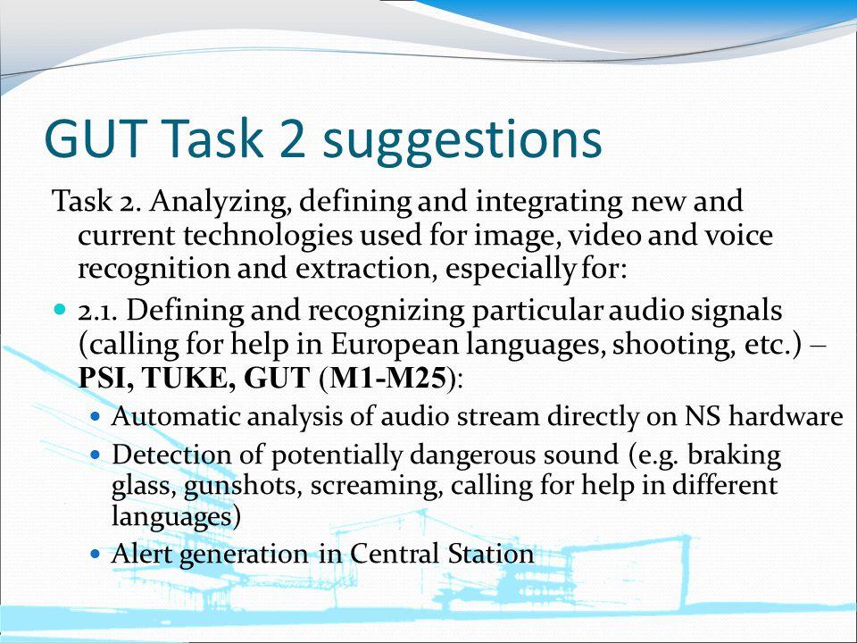 GUT Task 2 suggestions Task 2.