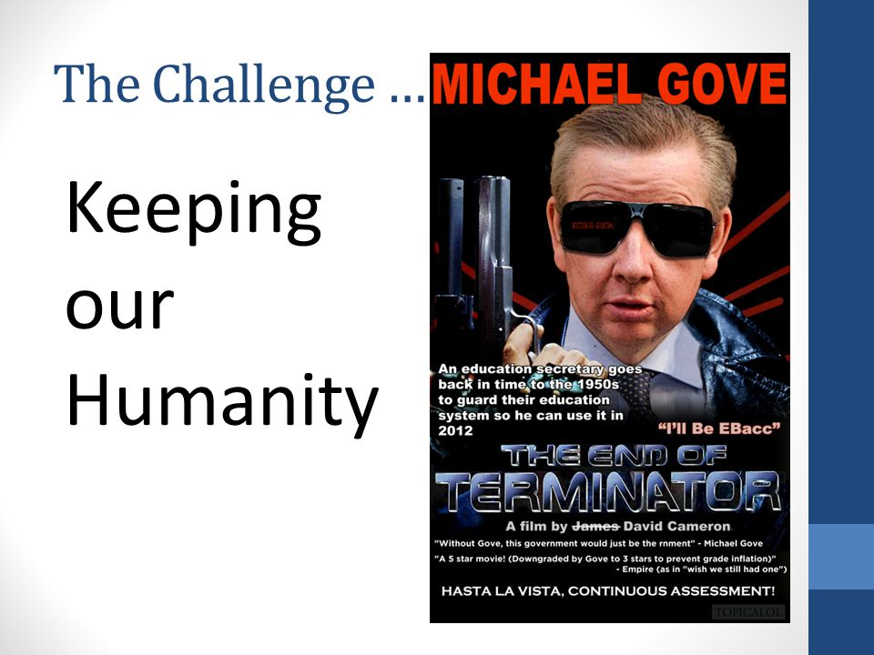 The Challenge … Keeping our Humanity