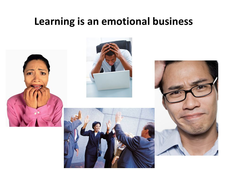 Learning is an emotional business