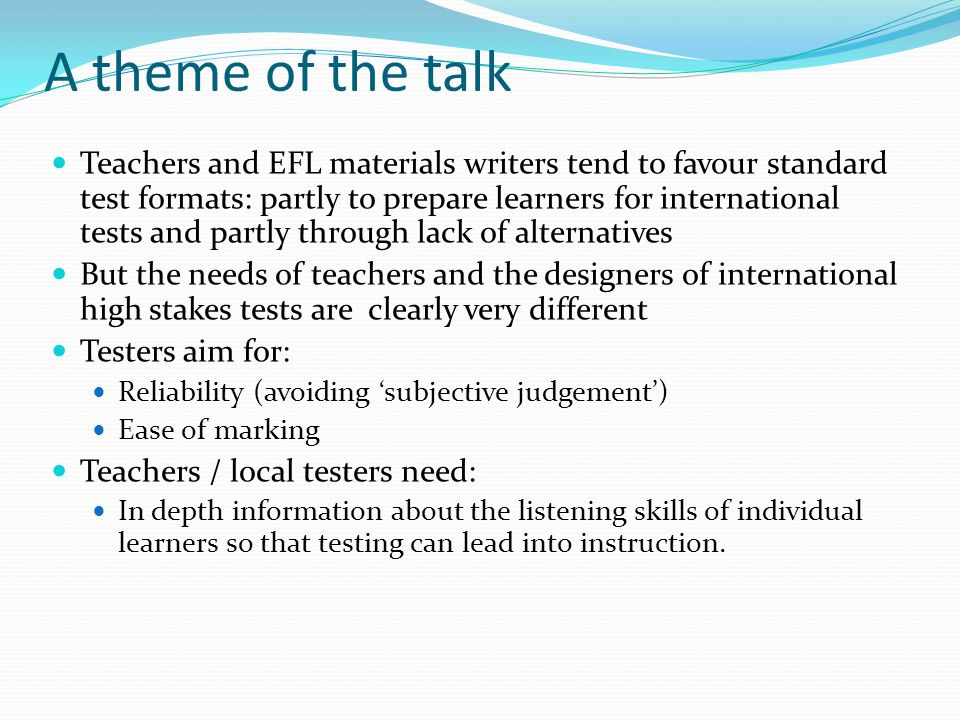 The task: solutions for the teacher / local tester