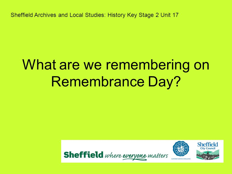 What are we remembering on Remembrance Day.