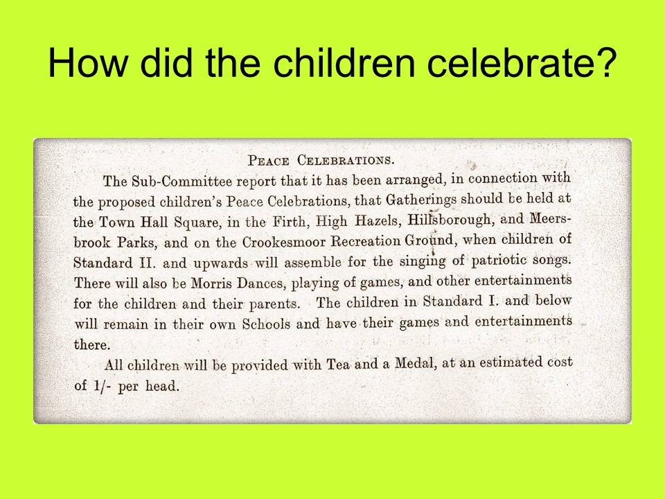 How did the children celebrate