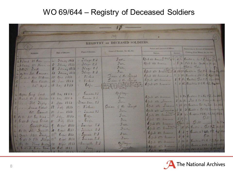 9 WO 69/637 – Service Record Summary