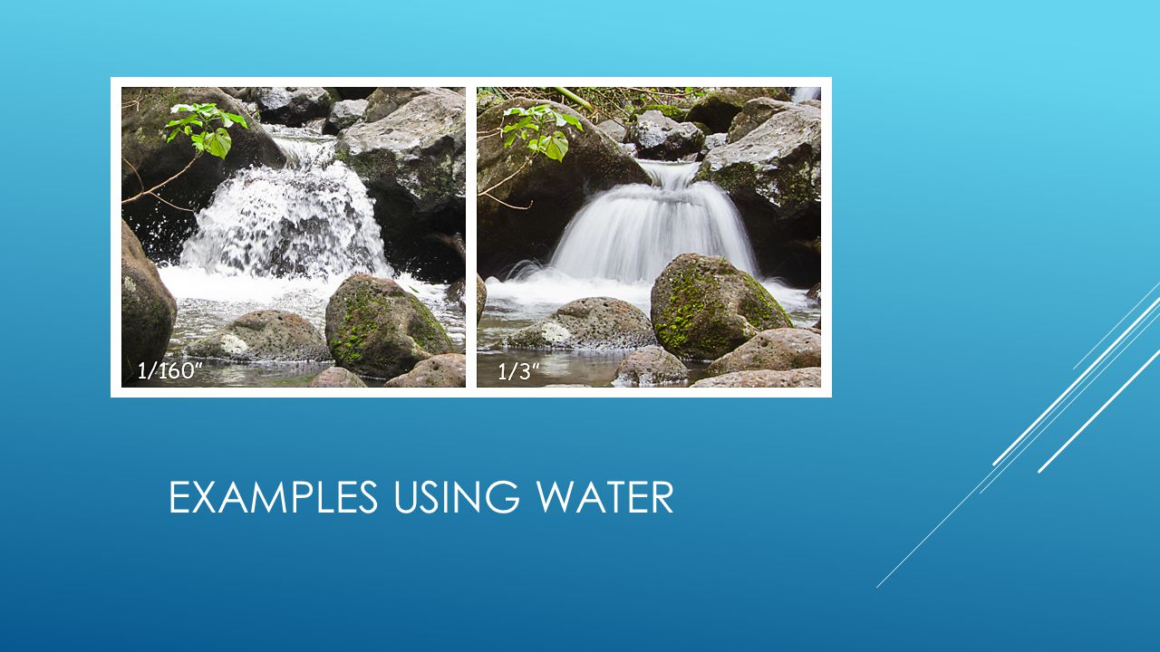 EXAMPLES USING WATER