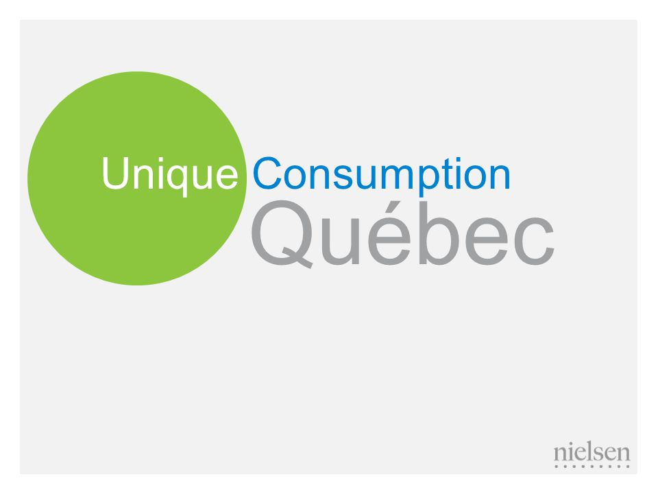 The fact French consume more cheese isn't just a stereotype – very different Dairy consumption 100 Source: Nielsen MarketTrack, Quebec All Channels vs.