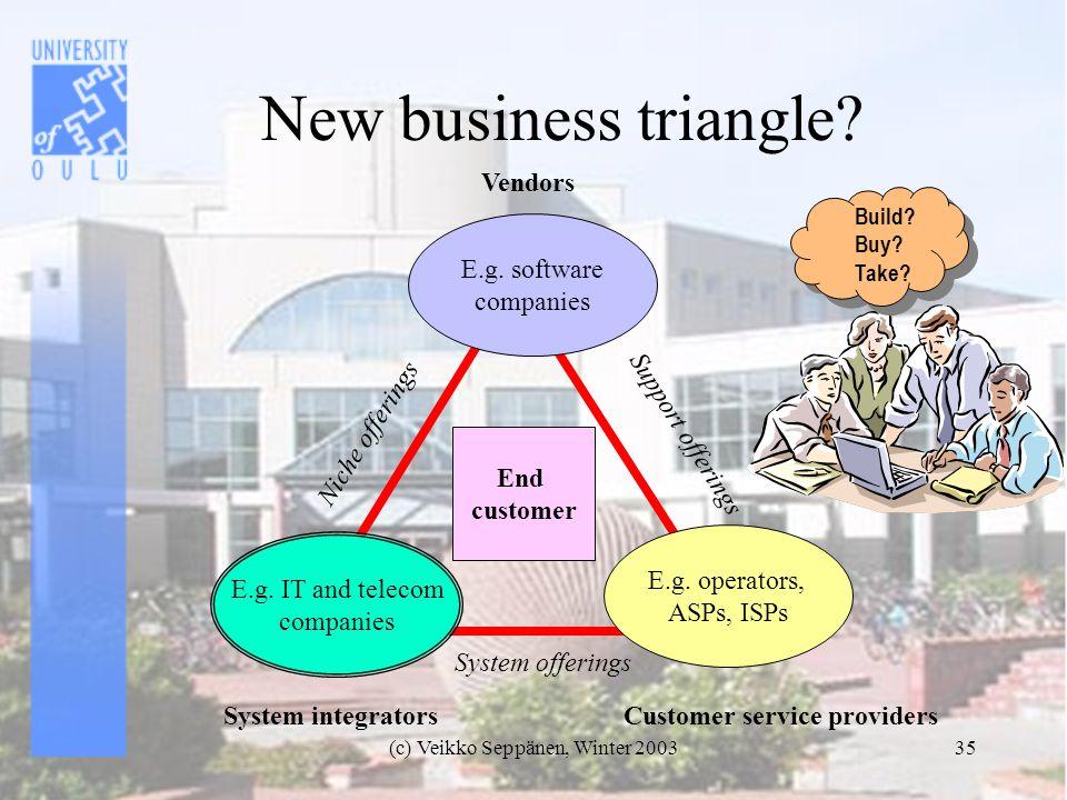 (c) Veikko Seppänen, Winter 200335 New business triangle.