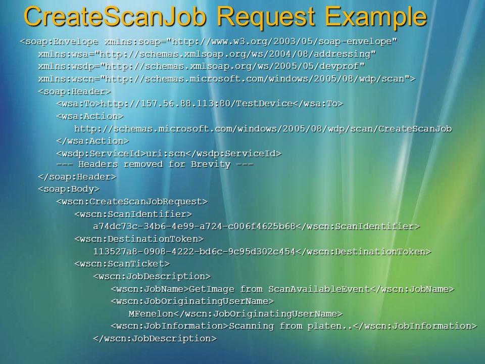 CreateScanJob Request Example <soap:Envelope xmlns:soap=