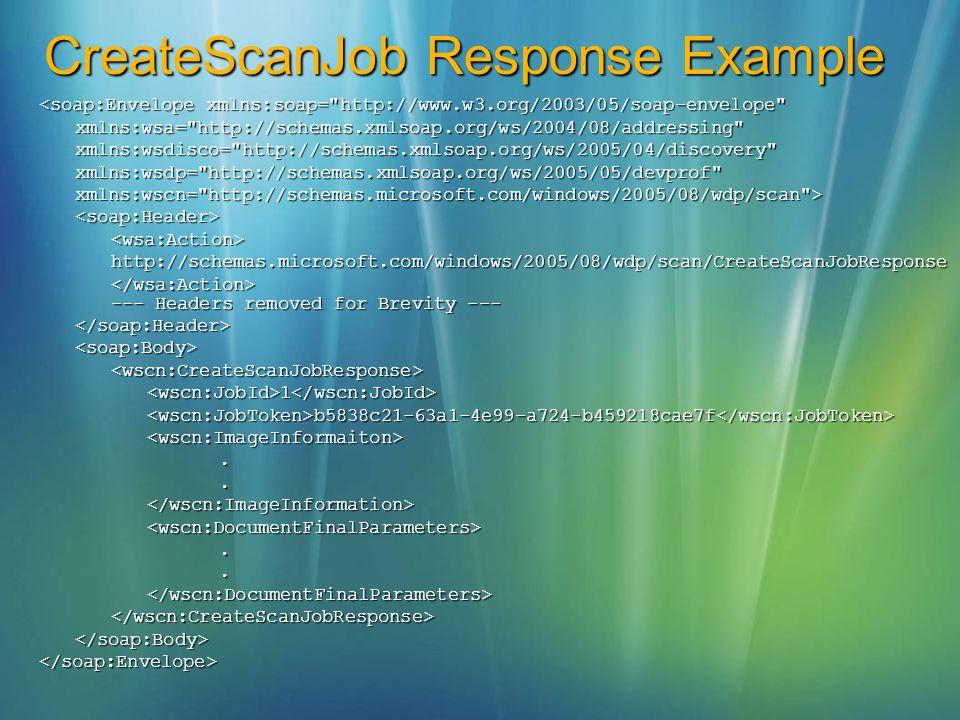 CreateScanJob Response Example <soap:Envelope xmlns:soap=