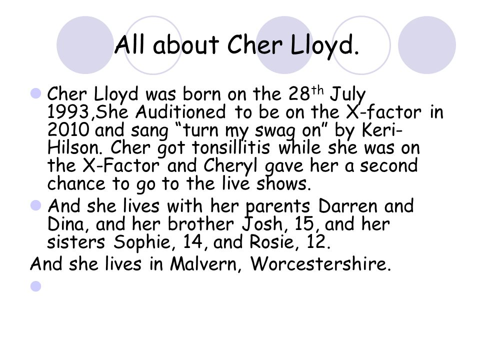 All about Cher Lloyd.