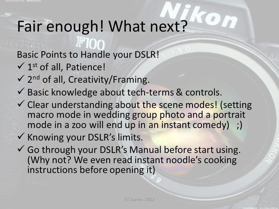 Manual Focus The failsafe method.