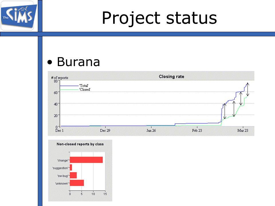 Project status Burana