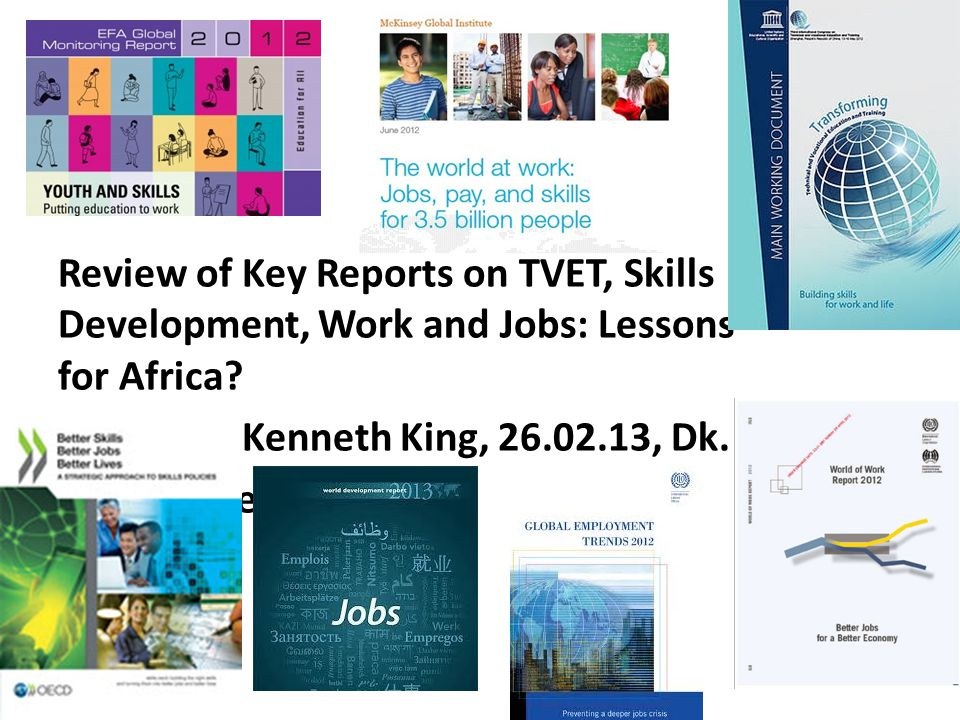 Policy borrowing and policy learning in TVET & skills development The challenge of 'best practice', exemplary projects, illustrative boxes.