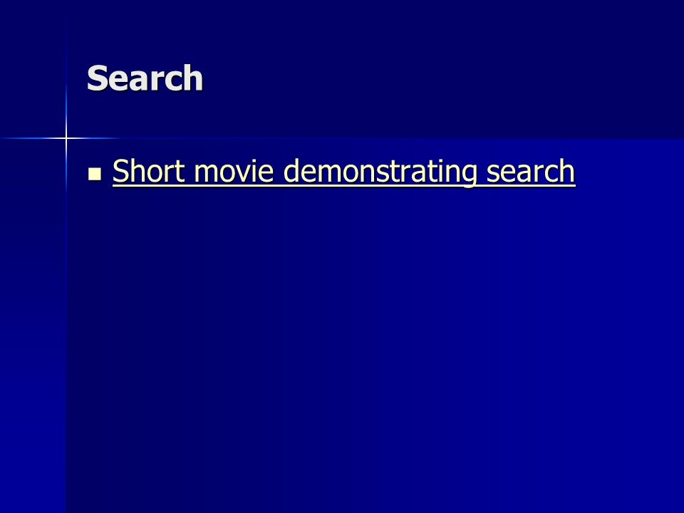 Search Short movie demonstrating search Short movie demonstrating search Short movie demonstrating search Short movie demonstrating search