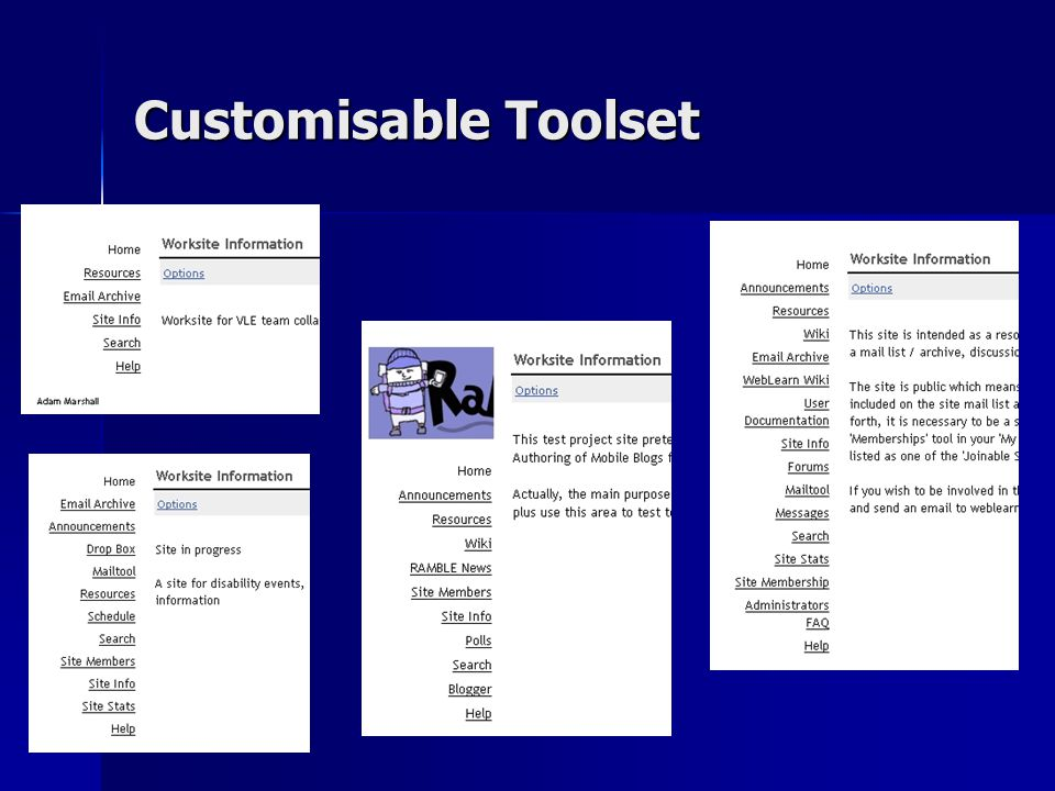 Customisable Toolset